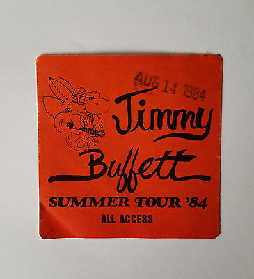 RaRe (1984) JIMMY BUFFET 'summer tour' rock music Backstage PASS