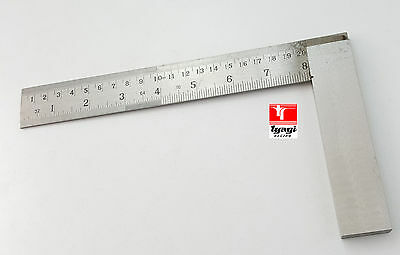 "Tri Square 8"" inch 200mm Graduated Marked Try Top Quality Wood Carpentry Tool"
