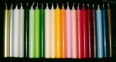 "Stylish Individual Dinner Candles 7""  Various Colours 8 Hour Burn Time"