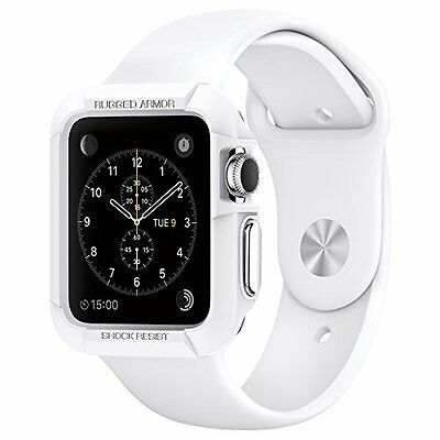 Apple Watch Case 42mm Rugged Armor Cover Shockproof Protective Premium White