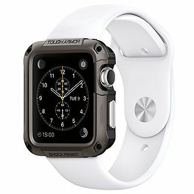 Apple Watch Case 42mm Tough Armor Shockproof Protective Premium Cover Gunmetal