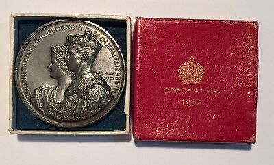 Great Britain 1937 Coronation Medal George VI in Original Case