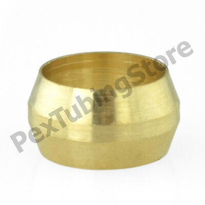 "(100) 1/4"" OD (Lead-Free) Brass Compression Sleeves"