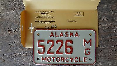 1976 Alaska Motorcycle License Plate - (#'s) 5226 thru 5255