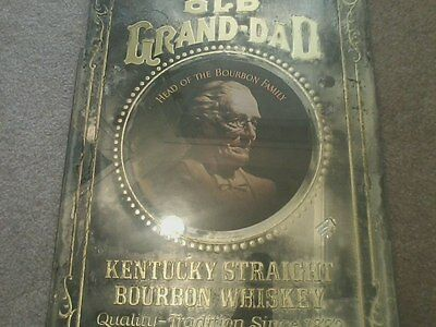 Vintage OLD GRAND DAD Mirror Head of the Bourbon Family  Barware Bar Whiskey