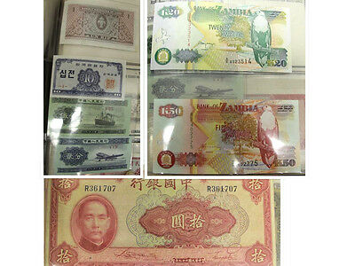 World Money Book - Various Banknotes (Europe, Asia, Africa, South America)