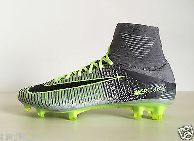 sale retailer 9f709 07ad7 NIKE MERCURIAL SUPERFLY V FG 831940-003 Pure Platinum Soccer Cleats Elite  Pack