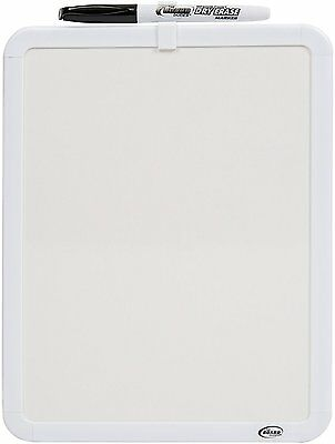 "The Board Dudes 8.5""x11"" White-Frame Non-Magnetic Dry-Erase Board"