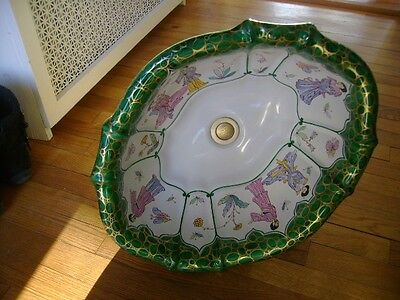 Vintage Sherle Wagner Sink HAND PAINTED USED