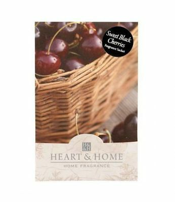 Heart and Home Sweet Black Cherries Large Scented Sachet with Hanger