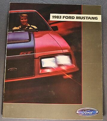 1983 Ford Mustang Catalog Sales Brochure GT GL GLX Excellent Original 83