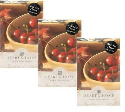 Pack of 3 Heart and Home Welcome Home Large Scented Fragrance Sachet with Hanger