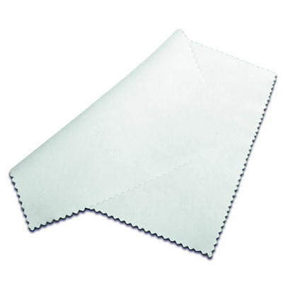 Sublimation Blank Plain Glasses Lens Cloths Polyester Satin White 180x150mm Bulk