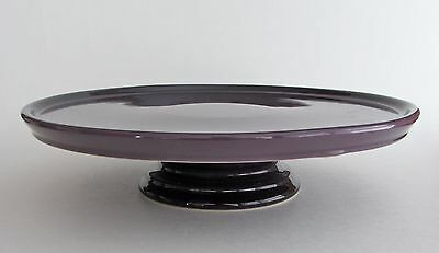 "LE CREUSET STONEWARE Footed Cake Stand Cassis Purple 30 cm - 11.8"" NEW"