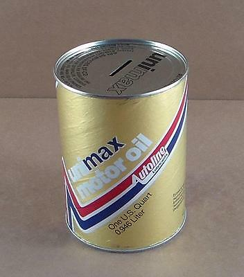 Unimax 1 Quart Motor Oil Cardboard Can Bank Autoline Lubricants Baltimore Md
