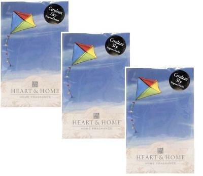 Pack of 3 Heart and Home Cerulean Sky Large Scented Fragrance Sachet with Hanger