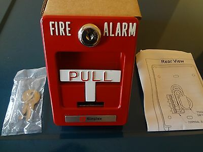 BRAND NEW Simplex Pull Down Non-coded Fire Alarm Box SP-1-TB FREE SHIPPING