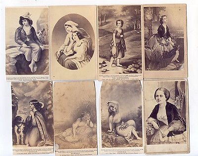 8 CDV Illustrations of People, Several Copyrighted in 1863 & 1865