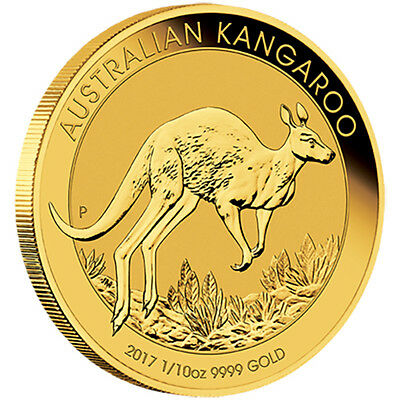 2017 Australian Kangaroo 1/10 oz Gold Bullion Coin