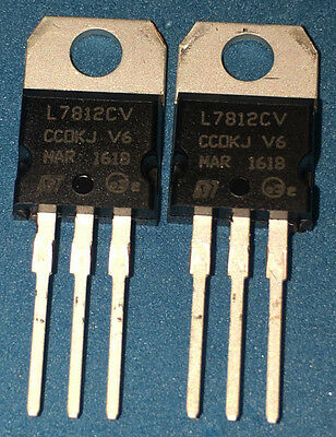L7812CV - 2pcs or 10pcs or 20pcs - Voltage Regulator 12V 1.5A TO-220 - L7812