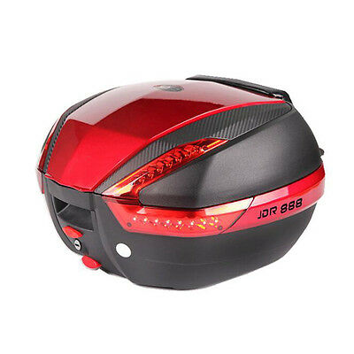 Latest Motorcycle Trunk Storage Tail Box Motorbike Reflective Top Case With Lock