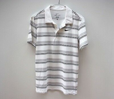 Nike Tennis Striped Pique Polo Shirt Rare - Size S Wimbledon Federer Nadal
