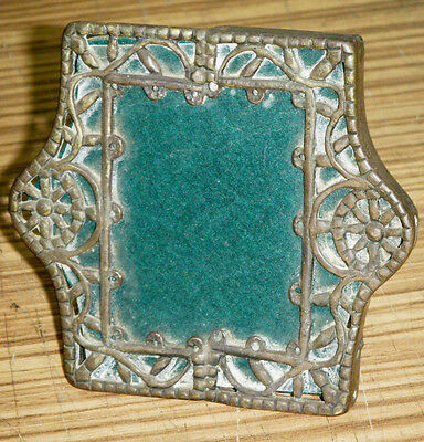 Vintage Arts Crafts Metal Miniature Portrait Photo Frame