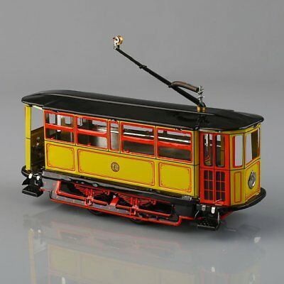 1 pc New Wind-Up Tram Trolley Streetcar Metal Tin Toy Adult Collectible Gift