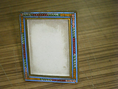 Vintage Italian Micro Mosaic Miniature Square Portrait Photo Frame