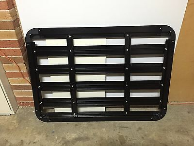 USED 140CM x 100CM Black Aluminium Roof Rack Tray for Work Offroad