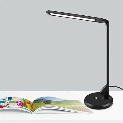 LE 12W Dimmable LED Desk Lamp Touch Sensitive Control Bedroom Reading Table Lamp