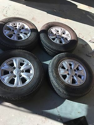 MITSUBISHI TRITON MN 16 INCH ALLOY WHEELS WITH 245/70R16 With TYRES