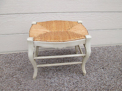 57806 French Country Rush Seat Footstool