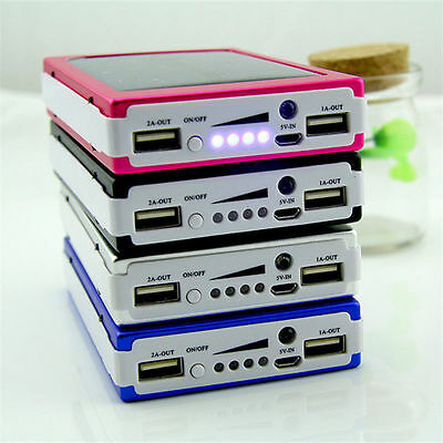 HOT Solar Power Bank 600000mah Dual USB External Battery Charger For iPhone LG