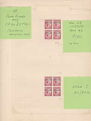 MN52) New Zealand Specialised collection of 1935 Pictorials Official Overprints