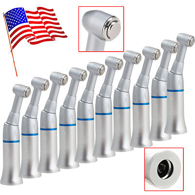 10pcs USA Dental Slow Low Speed Push Button Handpiece Contra Angle Latch Fit NSK