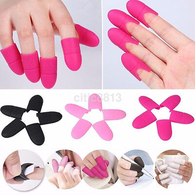 10pcs Silicone Nail Art Soak Off Clip Cap Set UV Gel Polish Remover Wrap Tools