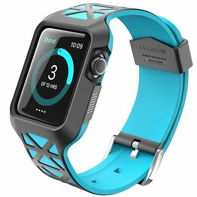 Apple Watch Case Strap 42mm Cover Premium Protective Shockproof Bumper Blue