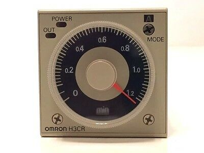 OMRON H3CR-A8 24 - 48VAC 12 - 48VDC Analogue Timer Multifunction 1.2s to 300h