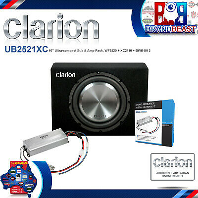 "Clarion Clarion Ub2521xc 1000w 10"" Subwoofer & Amplifier Ute Pack REPL UB2522XR"