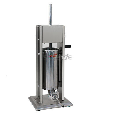 Used Sausage Stuffer Vertical Stainless Steel 5L/11LB 11 Pound Meat Filler