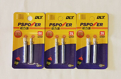 6 x CR435 Lithium Pin Type Battery for Fishing Float Light
