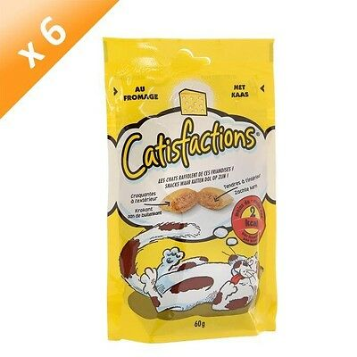 CATISFACTIONS Friandises au fromage - Chat adulte et chaton - 60 g (x6)