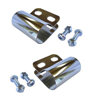 2x Scooter Bar Badge Bracket 20mm with Nuts & Bolts FREE UK P&P