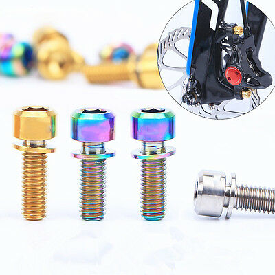 Bicycle M6x20mm Disc Brake Caliper Bolts Titanium Screws With Washer Gasket