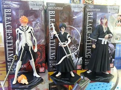 New BLEACH Kurosaki Ichigo, Kuchiki Rukia, Renji 3 PVC 7″ Figure Set In box