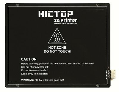 HICTOP Heated Bed  Aluminum for Ramps 3D printer 220 mm*275 mm*3 mm 24V 200W