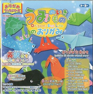 ORIGAMI SEA LIFE - with a book of instructions in English & Japanese - TOYO F/S