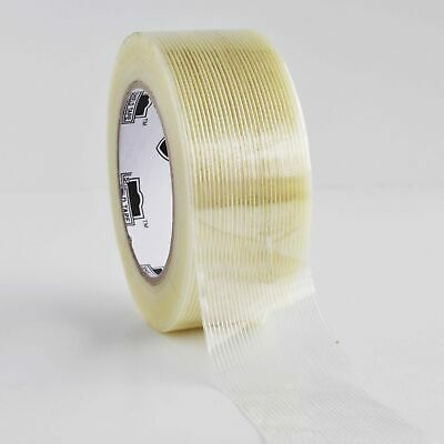 "12 Rls 2"" x 60 Yds Economy Filament Tape 3.9 Mil Fiberglass Tapes"