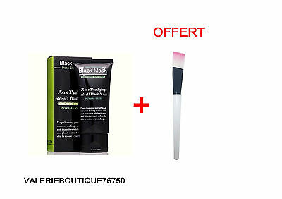 Black Mask masque Charbon purifiant Anti Acné Points Noirs pinceau masque offert